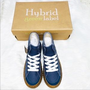 NEW Mens Hybrid Green Label Navy Blue Sneakers 8